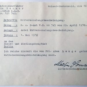 1938 DOCUMENT SIGNED BY THE 'HANGMAN OF BUCHENWALD'