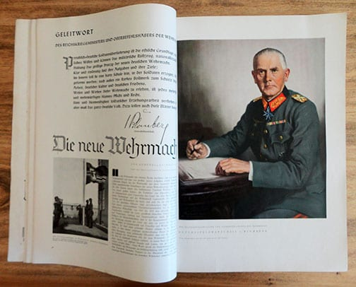1936 PHOTO BOOK ABOUT THE NEW WEHRMACHT