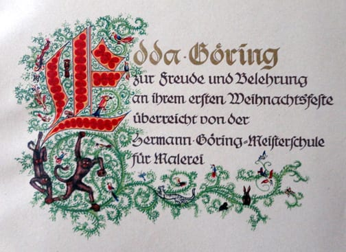 1938 SS-AHNENERBE BOOK FOR EDDA GÖRINGS 1ST CHRISTMAS