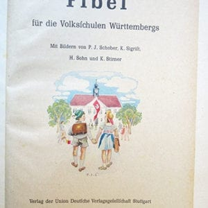 1941 'PATRIOTIC' NAZI SCHOOL BOOK FOR WUERTTEMBERG