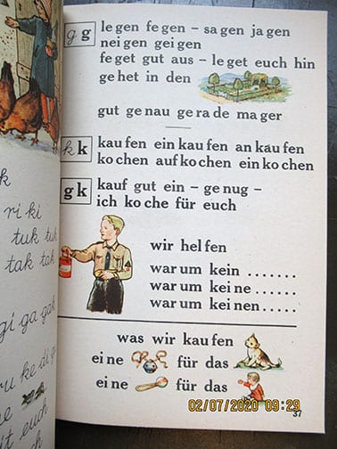 1940 PRIMARY READER WITH NATIONAL SOCIALIST CONTENT