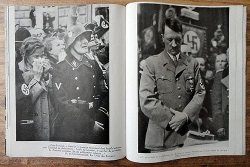 1937 H. HOFFMANN PHOTO BOOK ON ADOLF HITLER IN FRENCH LANGUAGE