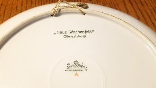 8-1/2 INCH PLATE DEPICTING THE FÜHRER'S HAUS WACHENFELD