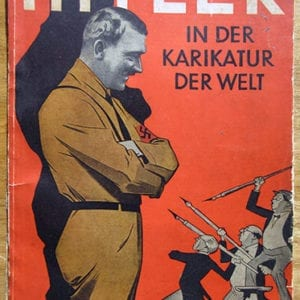 (1933) BOOK WITH ANTI-HITLER CARTOONS IN THE WORLD PRESS
