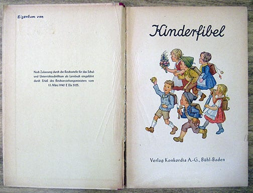 1943 PRIMARY READER WITH NATIONAL SOCIALIST CONTENT
