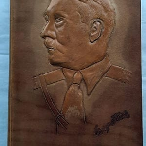 "1933 LEATHER BOUND PEOPLE'S EDITION OF ADOLF HITLERS ""MEIN KAMPF"""