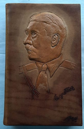 """1933 LEATHER BOUND PEOPLE'S EDITION OF ADOLF HITLERS """"MEIN KAMPF"""""""