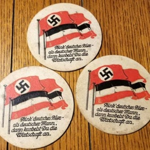 'PATRIOTIC' NAZI BEER COASTERS