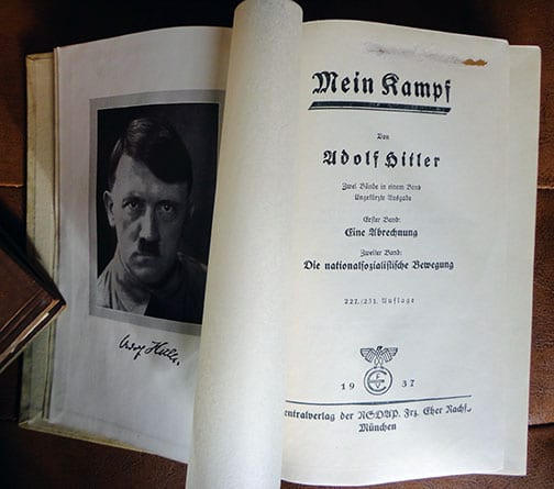 """PRIVATE OR LIBRARY BINDINGS OF ADOLF HITLERS """"MEIN KAMPF"""" (2) b"""