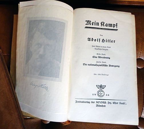 """PRIVATE OR LIBRARY BINDINGS OF ADOLF HITLERS """"MEIN KAMPF"""" (1) a"""