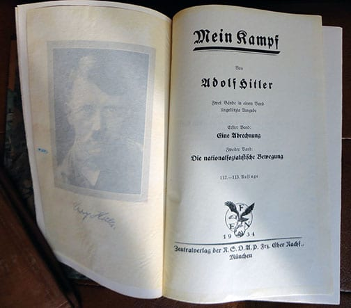 """PRIVATE OR LIBRARY BINDINGS OF ADOLF HITLERS """"MEIN KAMPF"""" (1) c"""