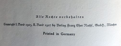 "1939 SPECIAL EDITION OF ADOLF HITLERS ""MEIN KAMPF"" w. ORIGINAL SLIP CASE a"