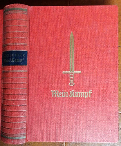 "1939 SPECIAL EDITION OF ADOLF HITLERS ""MEIN KAMPF"" w. ORIGINAL SLIP CASE b"