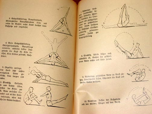 1936 S.A. PHYSICAL EXERCISE TRAINING BOOK