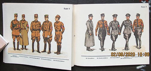SCARCE ORIGINAL 1933 (POSSIBLY EARLIER) BOOK ON UNIFORMS AND INSIGNIA