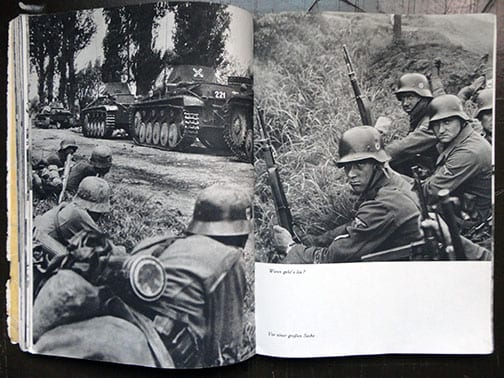 1941 WAFFEN SS FIGHTING IN FRANCE PHOTO BOOK