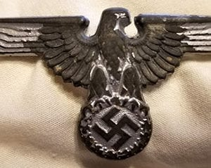 RZM MARKED WAFFEN-SS VISOR EAGLE