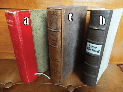 """PRIVATE OR LIBRARY BINDINGS OF ADOLF HITLERS """"MEIN KAMPF"""" (1)"""
