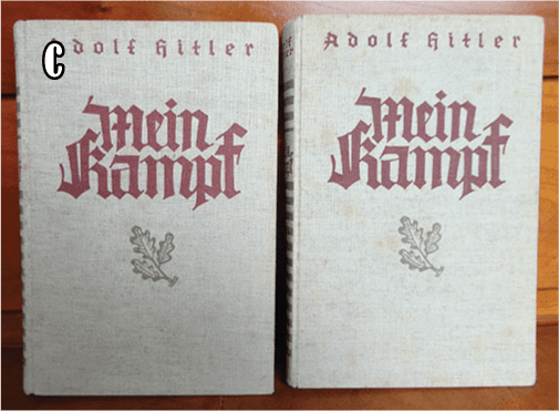 """1934-1939 TWO VOLUME SPECIAL EDITION OF ADOLF HITLERS """"MEIN KAMPF"""" b"""