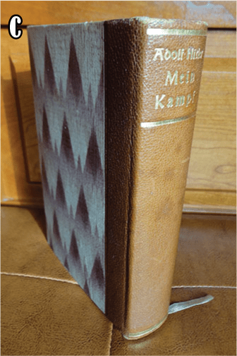 """PRIVATE OR LIBRARY BINDINGS OF ADOLF HITLERS """"MEIN KAMPF"""" (2) c"""