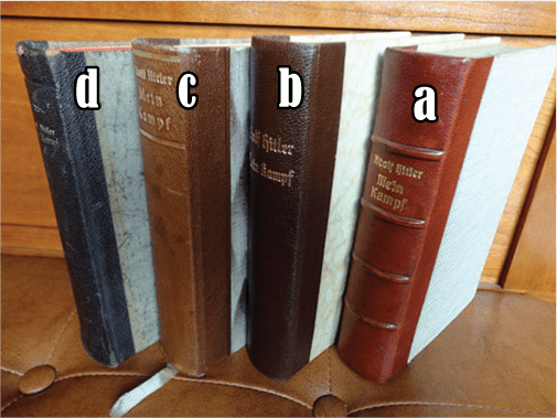 """PRIVATE OR LIBRARY BINDINGS OF ADOLF HITLERS """"MEIN KAMPF"""" (2)"""