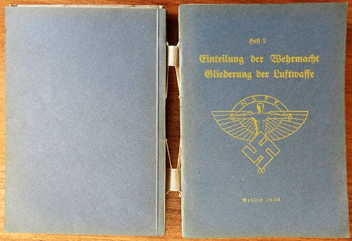 RARE 1939 BOUND COMPLETE SET OF TEN N.S.F.K. TRAINING GUIDES