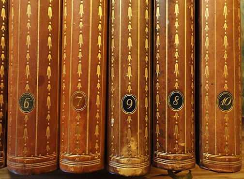 10 VOLUME HALF LEATHER BOOK SET ON FREDERICK THE GREAT / KING OF PRUSSIA