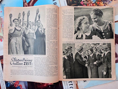 LOT OF TEN ISSUES OF THE RARE NS-FRAUENWARTE PERIODICAL