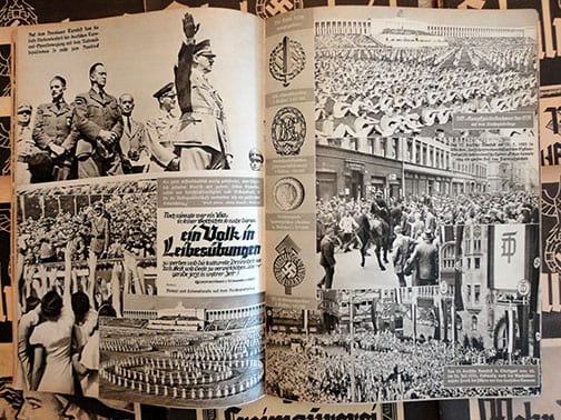 """LOT OF ELEVEN 1939 ISSUES OF THE NAZI PROPAGANDA PHOTO PUBLICATION """"DER SCHULUNGSBRIEF"""""""