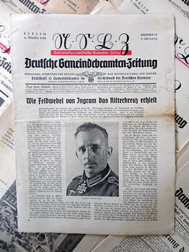 1939-41 OFFICIAL NAZI BEAMTENZEITUNG PERIODICAL LOT