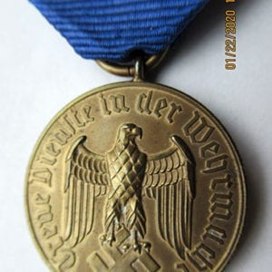 12 YEARS WEHRMACHT FAITHFUL SERVICE MEDAL