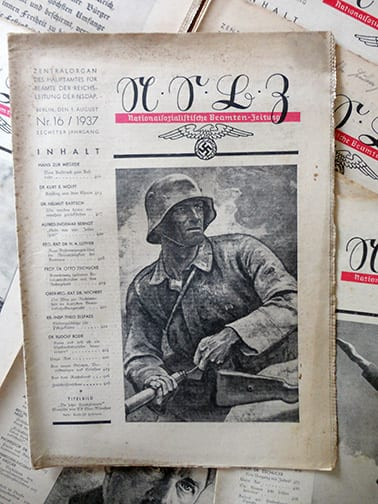 1937 OFFICIAL NAZI BEAMTENZEITUNG PERIODICAL LOT