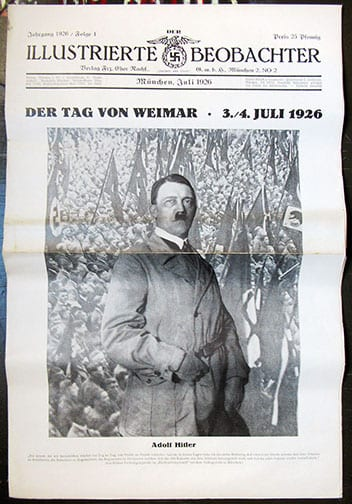 ORIGINAL 1st ISSUE (1926) NSDAP NEWSPAPER 'ILLUSTRIERTER BEOBACHTER'