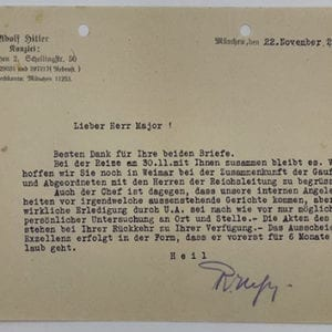 EARLY (1927) RUDOLF HESS SIGNED LETTER