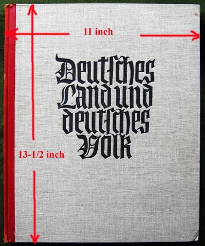 1933 OVERSIZE NAZI PHOTO BOOK ON GERMANYAND ITS PEOPLE