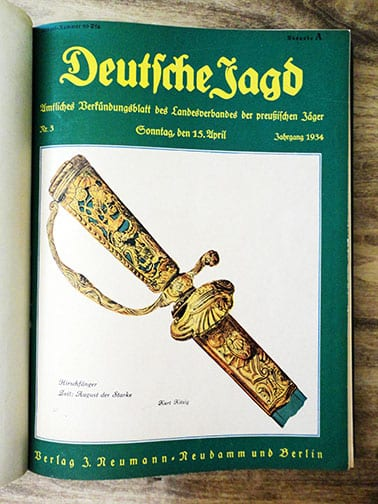 BOUND 1934-37 ISSUES OF THE OFFICIAL GERMAN HUNT PERIODICAL