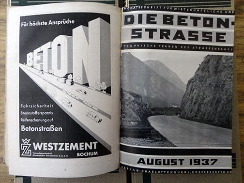 NAZI REICHSAUTOBAHN CONSTRUCTION MATERIAL WE EVER OFFERED