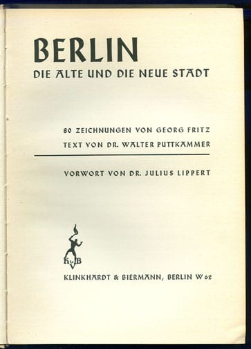 1936 BOOK ON BERLIN WITH 80 FULL PAGE ILLUSTRATIONS