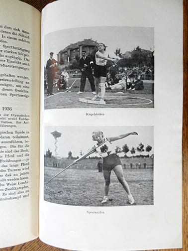 1936 NAZI PHOTO BOOK ABOUT SPORTS IN THE GERMAN THIRD REICH