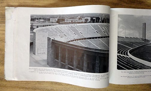 1936 OLYMPIC GAMES COMPLEX IN BERLIN PHOTO BOOK