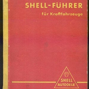 1936 GERMAN SHELL LUBE GUIDE BOOK