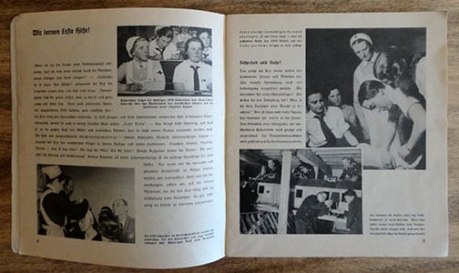 ORIGINAL 1937 PHOTO BOOK ON THE WORK OF THE RED CROSS IN THE THIRD REICH