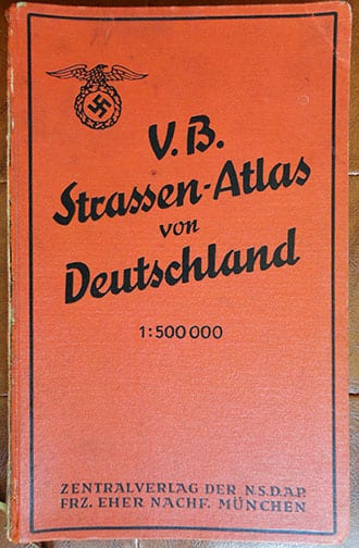 1937 MAP BOOK OF THE OFFICIAL NAZI PUBLISHING HOUSE