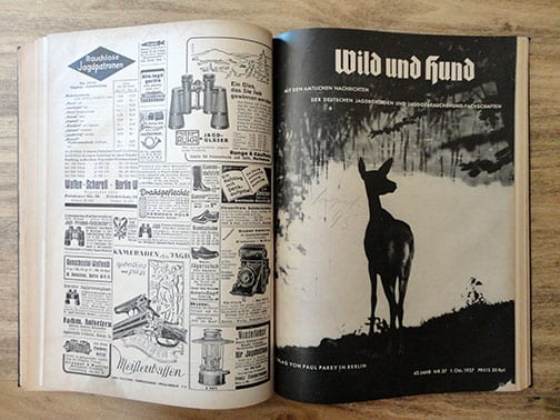 BOUND 1937 ISSUES OF THE OFFICIAL GERMAN HUNT PERIODICAL