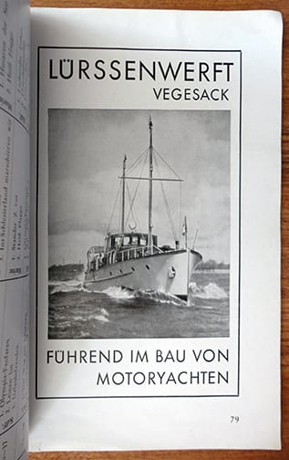 1938 OFFICIAL CATALOG BOAT & WATERSPORTS EXHIBITION BERLIN