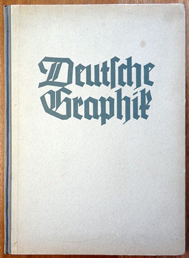 THIRD REICH BOOK WITH GERMAN GRAPHIC ARTS