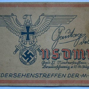 1938 PROGRAMME WWI NAVY VETERANS CONVENTION IN BRAUNSCHWEIG