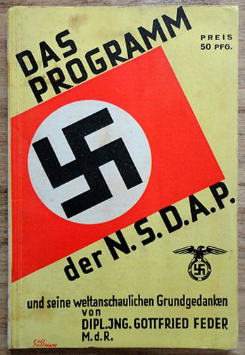 OFFICIAL N.S.D.A.P. NAZI PARTY PROGRAMME