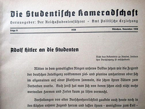 1938 RACIAL STUDY PUBLICATION BY THE NAZI STUDENTS ORGANIZATION