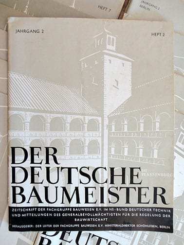 BIG 1939/1940 LOT OF SOUGHT AFTER NAZI GERMAN ART/ARCHITECTURE PERIODICALS